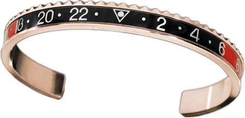 Speedometer Official - Bangle - Pink Gold w Red & Black | SO-BNG-PGD-RDBK-00