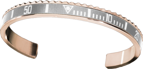 Speedometer Official - Bangle - Pink Gold w Silver | SO-BNG-PGD-SLVR-00
