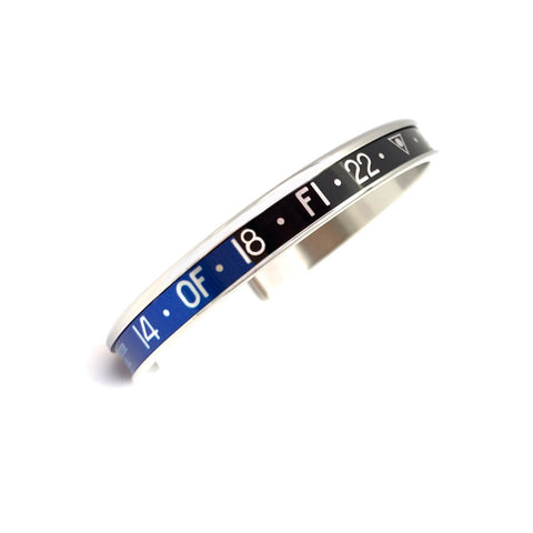 Speedometer Official - Steel Bangle | Black & Blue