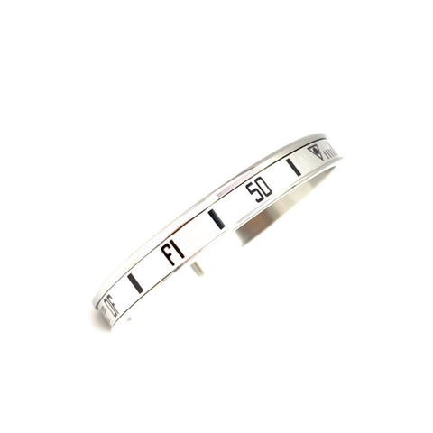 Speedometer Official - Steel Bangle | White