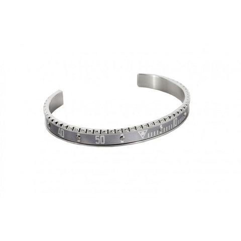 Speedometer Official - Bangle - Steel Silver w Diamonds |  SO-BNG-STL-SLVR-06