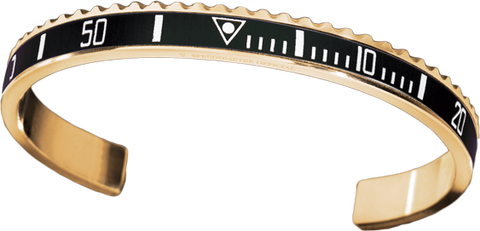 Speedometer Official - Bangle - Yellow Gold w Black | SO-BNG-YGD-BLCK-00