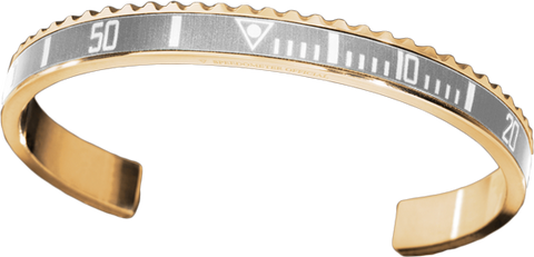 Speedometer Official - Bangle - Yellow Gold w Silver | SO-BNG-YGD-SLVR-00