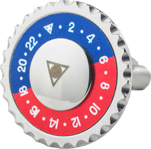 Speedometer Official - Steel Cufflinks | Red & Blue