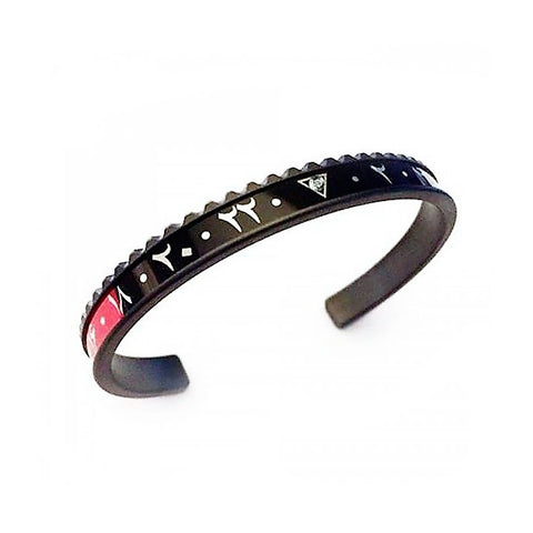 Speedometer Official - DLC Dual Time Arabic Bangle w Diamond | Black & Red