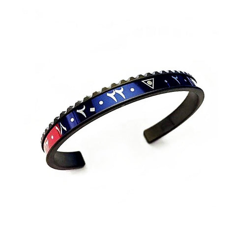 Speedometer Official - DLC Dual Time Arabic Bangle | Red & Blue