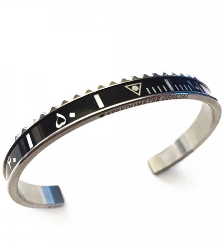 Speedometer Official - Steel Arabic Bangle | Black