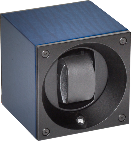 Swiss Kubik - Single Watch Winder - Sycamore Bleu | SK01.BS004