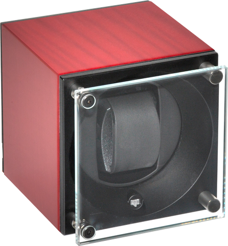 Swiss Kubik - Single Watch Winder - Sycamore Rouge | SK01.BS005