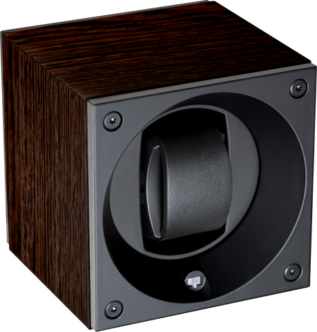 Swiss Kubik - Single Watch Winder - Black Wedge | SK01.BWN001