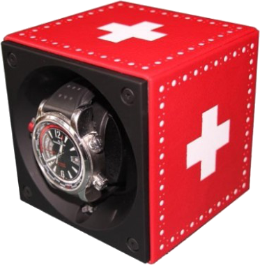 Swiss Kubik - Single Leather - Swiss Flag | FA01.CV002