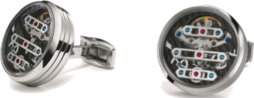 TF Est 1968 -  3 Bridge Tourbillon Cufflink | C3B-SS01