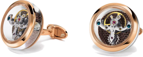 TF Est 1968 - Tourbillon Rose Gold Cufflink |  CT-RG03