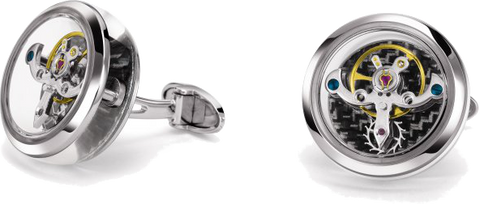 TF Est 1968 - Tourbillon White Gold Cufflink |  CT-WG01