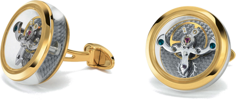 TF Est 1968 - Tourbillon Yellow Gold Cufflink | CT-YG01