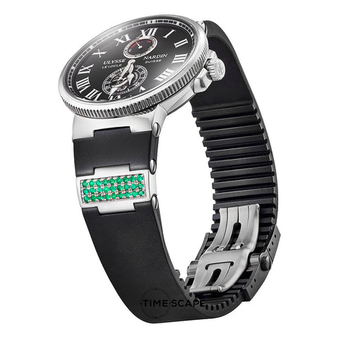 Emerald & Sterling Silver | Watch Strap Insert