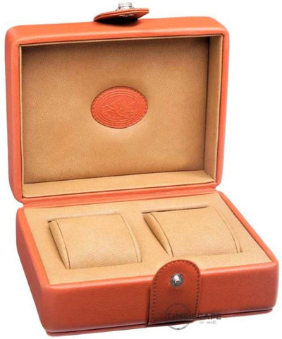 UNDERWOOD (LONDON) - Double Leather Watch Box | UN215/TAN