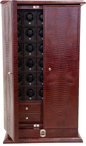 UNDERWOOD (LONDON) - Croco 30-Unit Biometric Cabinet | UN3222/CBRW