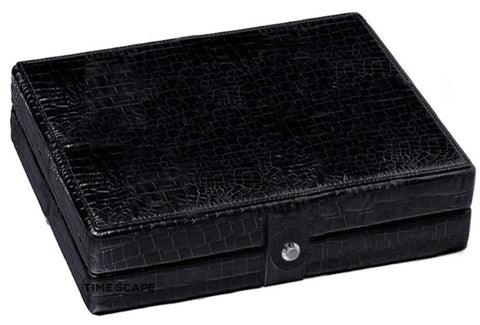 UNDERWOOD (LONDON) - 8-Unit Leather Pocket Watch Box | UN280/CBLK