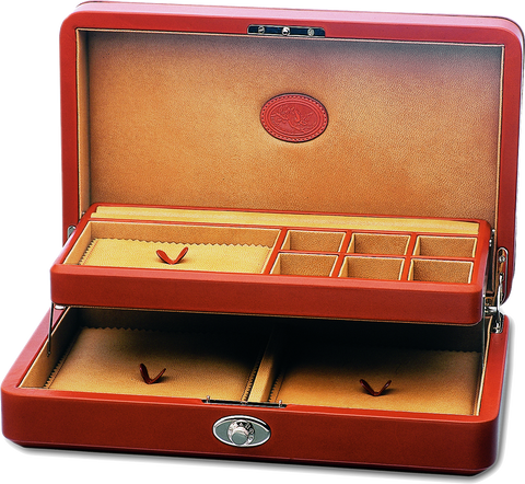 UNDERWOOD (LONDON)  - Leather Jewelry Case with Tray | UN206/TAN