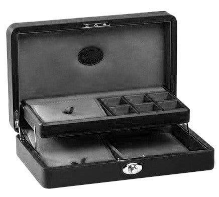 UNDERWOOD (LONDON)  - Leather Jewelry Case with Tray | UN206/BLK