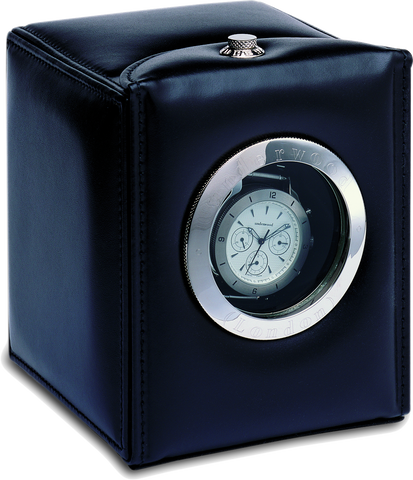 Black Hublot Underwood Leather Watch Winder