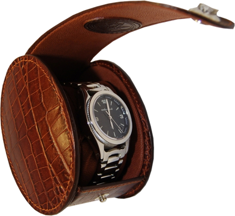 UNDERWOOD (LONDON) - Single Round Croco Watch Case | UN230/CBRW
