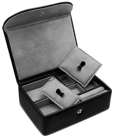 UNDERWOOD (LONDON) - Small Leather Watch & Jewelry Box | UN216/BLK
