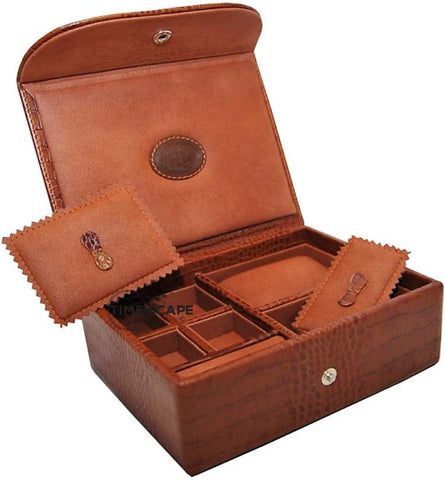 UNDERWOOD (LONDON) - Small Croco Watch & Jewelry Box | UN216/CBRW