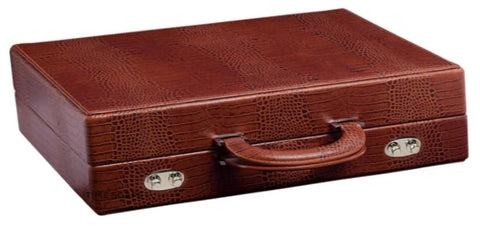 UNDERWOOD (LONDON) - 10-Unit Croco Watch Attache Case | UN120/CBRW
