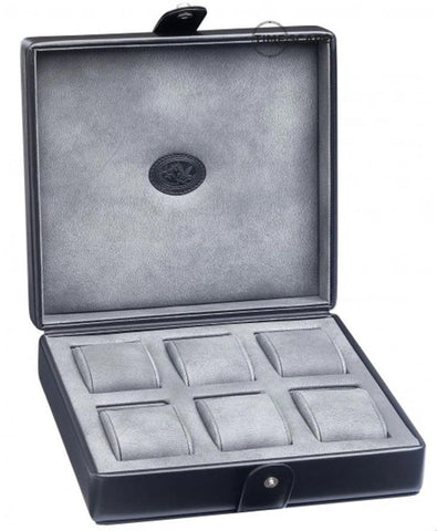 UNDERWOOD (LONDON) - 6-Unit Leather Watch Box | UN210/BLK