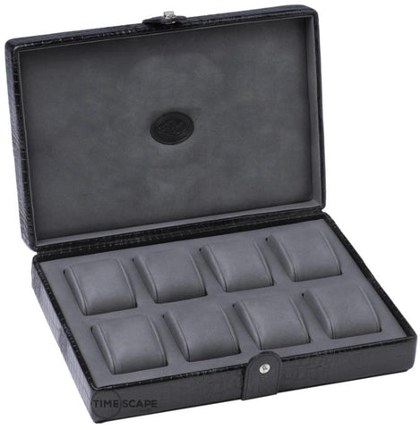 UNDERWOOD (LONDON) - 8-Unit Croco Watch Box  | UN218/CBLK