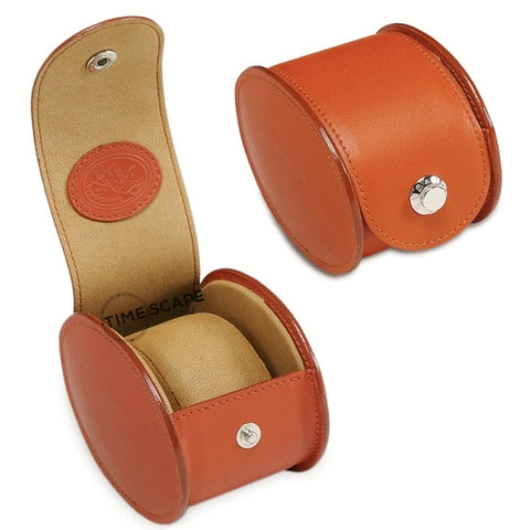 UNDERWOOD (LONDON) - Single Round Leather Watch Case | UN230/TAN