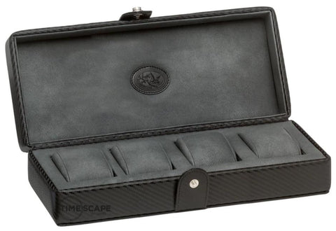 UNDERWOOD (LONDON) - 4-Unit Carbon Watch Box | UN234/CF
