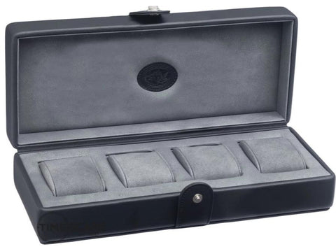 UNDERWOOD (LONDON) - 4-Unit Leather Watch Box  | UN234/BLK