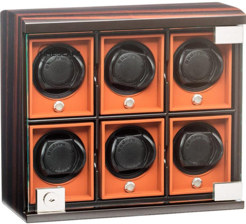 UNDERWOOD (LONDON) - Classic Macassar 6-Unit Watch Winder | UN7823