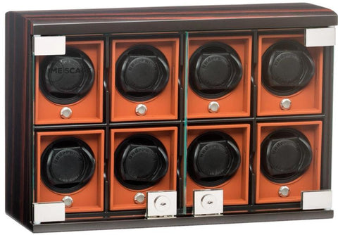 UNDERWOOD (LONDON) - Classic Macassar 8-Unit Watch Winder | UN7826
