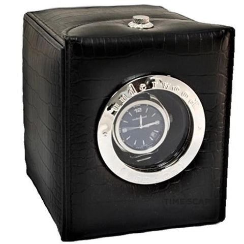 UNDERWOOD (LONDON) - Classic Porthole Croco Single Watch Winder | UN809/CBLK