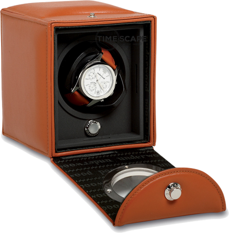 UNDERWOOD (LONDON) - Classic Porthole Leather Single Watch Winder | UN809/TAN