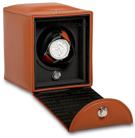 UNDERWOOD (LONDON) - Classic Leather Single Watch Winder | UN810/TAN