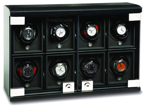 UNDERWOOD (LONDON) - Classic Leather 8-Unit Watch Winder | UN816/BLK