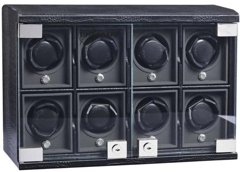 UNDERWOOD (LONDON) - Classic Croco 8-Unit Watch Winder | UN816/CBLK