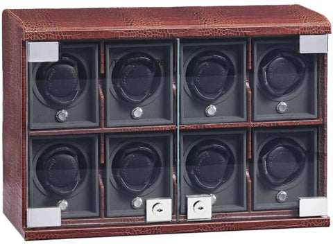 UNDERWOOD (LONDON) - Classic Croco 8-Unit Watch Winder | UN816/CBRW