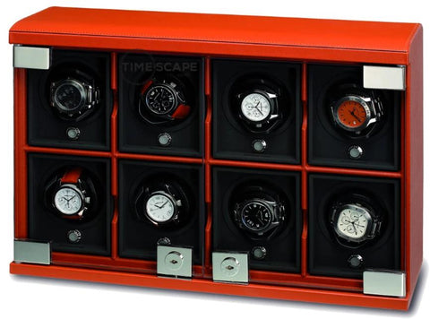 UNDERWOOD (LONDON) - Classic Leather 8-Unit Watch Winder | UN816/TAN
