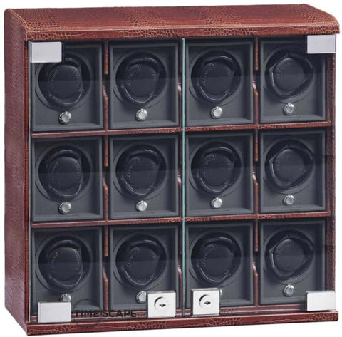 UNDERWOOD (LONDON) - Classic Croco 12-Unit Watch Winder | UN818/CBRW