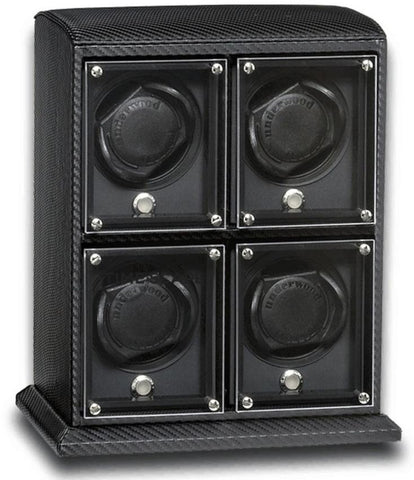 UNDERWOOD (LONDON) - EvO Carbon 4-Unit Watch Winder | UN9002/CF
