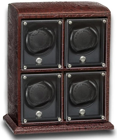 UNDERWOOD (LONDON) - EvO Croco 4-Unit Watch Winder | UN9002/CBRW