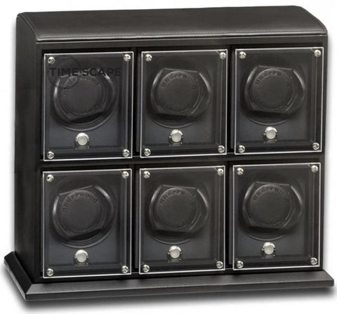 UNDERWOOD (LONDON) - EvO Leather 6-Unit Watch Winder | UN9004/BLK
