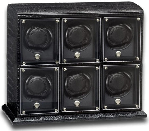 UNDERWOOD (LONDON) - EvO Croco 6-Unit Watch Winder | UN9004/CBLK