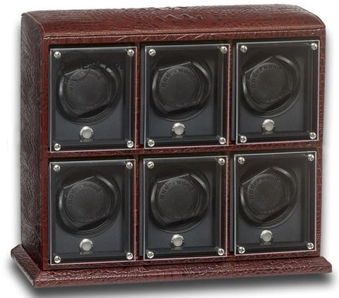 UNDERWOOD (LONDON) - EvO Croco 6-Unit Watch Winder | UN9004/CBRW